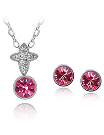 Tanzanite Plum Red Set-Transient Dream Alloy Crystal Sets