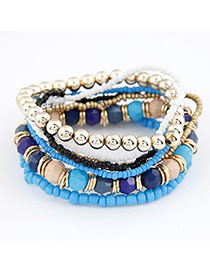 Religious Blue Personality Multilayer Design