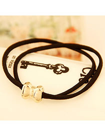 Ladies Black Bow Alloy Hair band hair hoop