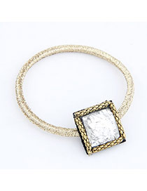 Affordable Silver Color Solid Square Shape Alloy Hair band hair hoop