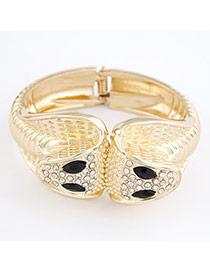 African Gold Color Snake Alloy Fashion Bangles