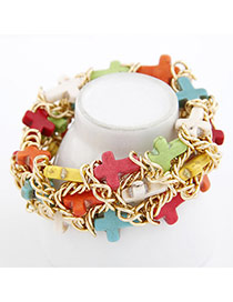 Baltic Multicolour Cross Alloy Fashion Bangles