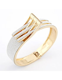 Athletic White Belt Alloy Fashion Bangles