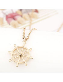 Postal Gold Color Windmills Shape Pendant Alloy Chains