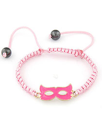 Cute Pink Mask Shape Braided Rope Korean Fashion Bracelet