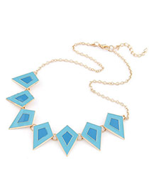 2012 Blue Quadrilateral Shape
