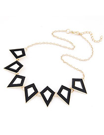 Pagan Black Quadrilateral Shape