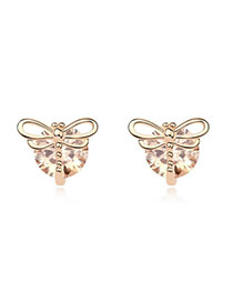 Kids Champagne Champagne Earrings Alloy Crystal Earrings