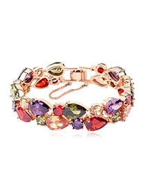 Tanzanite Multicolour Bracelet Alloy Crystal Bracelets
