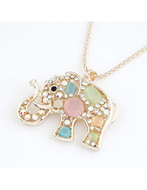Bead Multicolour Lovely Elephant Pendant