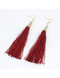 Eatable Claret-Red Elegant Tassels Design