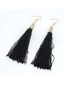 Renaissanc Black Elegant Tassels Design