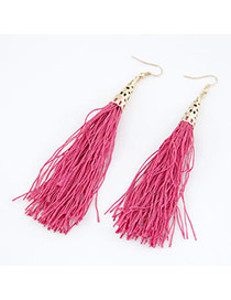 University Plum Red Elegant Tassels Design