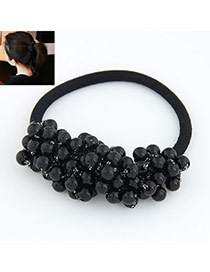 Parker Black Sweet Ball Shape Consist Pearl Hair band hair hoop