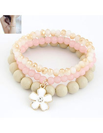 Shopping Pink Clover Decoration Alloy Korean Fashion Bracelet