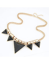 Vibrant Gold & Silver Color Metal Decorated Geometrical Shape Design