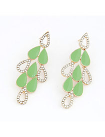 Specialty Green Elegant Water Drop Shape Design