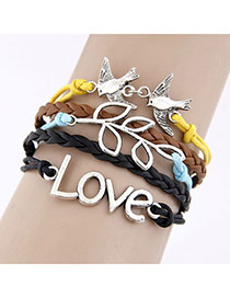 Fashion White Pure Color Decorated Bracelet