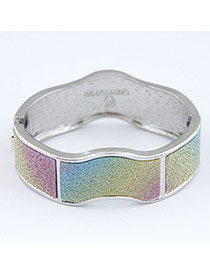 Discount Multicolor Small Wave Shape Design Alloy Fashion Bangles