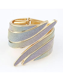 Cherokee Multicolour Angle Wing Shape Design Alloy Fashion Bangles