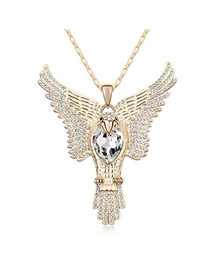 2011 White Flying Eagle Pendant Austrian Crystal Crystal Necklaces