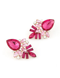 Sanctuary Plum Red Elegant Shining Jewel Design