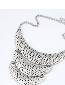 Modern Silver Color Crescent Moon Shape