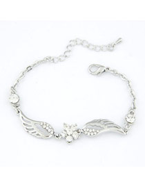 Gothic Silver Color Wing Of Angel Alloy Korean Fashion Bracelet