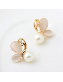 Energie White Butterfly Pearl Design