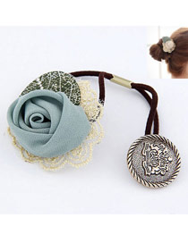 Cherokee Green Lace Rose Design Rubber Band Hair band hair hoop