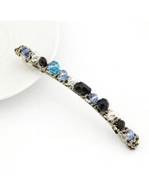 Top Rated Blue Handmade Crystal Design Alloy Hair clip hair claw