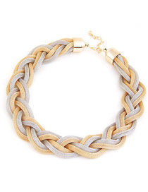 Wishbone Gold Color Simple Thick Chain Plastic Chains