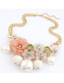 Security Light Pink Pearls&Flower Decorated Design