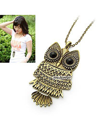 Collar Bronze Owl Alloy Korean Necklaces