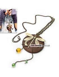 Cheerleadi Gold Color Butterfly Alloy Korean Necklaces