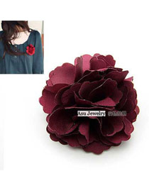Native Red Flower Cloth Korean hair accessories