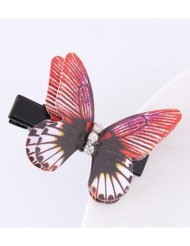 Fashion Red+white Butterfly Shape Decorated Simple Hair Pin
