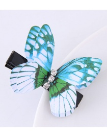Fashion Blue Butterfly Shape Decorated Simple Hair Pin