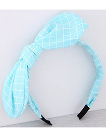 Fashion Blue Bowknot Shape Decorated Pure Color Hair Hoop