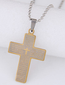 Trendy Yellow Cross Pendant Decorated Simple Necklace