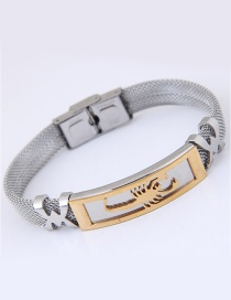 Fashion Silver Color Lizard Pattern Decorated Simple Bracelet
