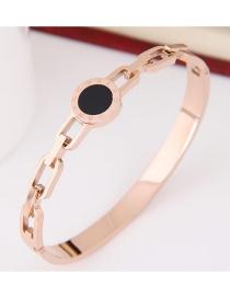 Personlity Black+gold Color Hollow Out Decorated Bracelet