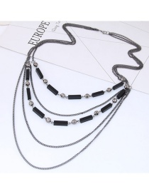 Fashion Gun Black Pure Color Decorated Necklace