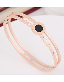 Fashion Rose Gold Diamond Decorated Bracelet