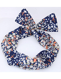 Lovely Navy Flowers Shape Decorated Hair Band