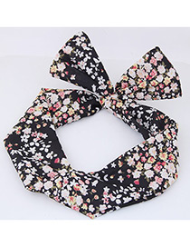 Lovely Black Flowers Shape Decorated Hair Band