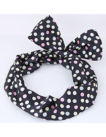Lovely Multi-color Dot Shape Decorated Hair Band