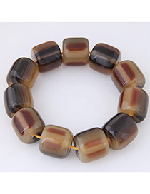 Fashion Brown Bead Decorated Bracelet
