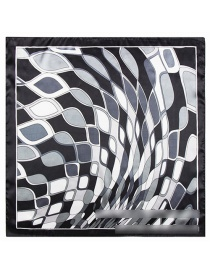 Fashion Black Rhombus Pattern Decorated Simple Scarf