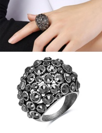 Elegant Silver Color Round Shape Decorated Hollow Out Ring